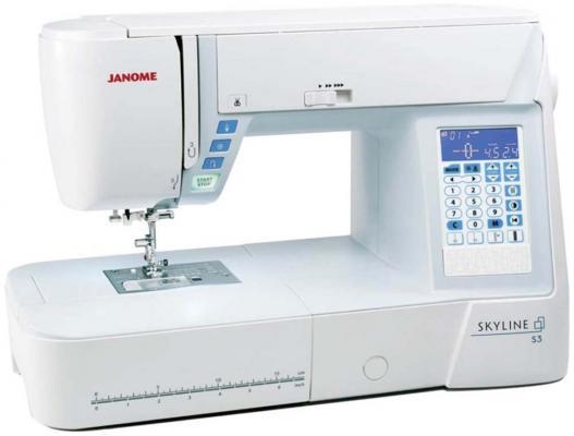 лучшая цена Швейная машинка Janome Skyline S3 белый