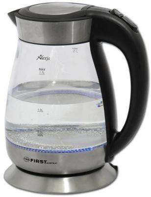 Чайник First FA-5406 2200 Вт чёрный 1.7 л пластик/стекло