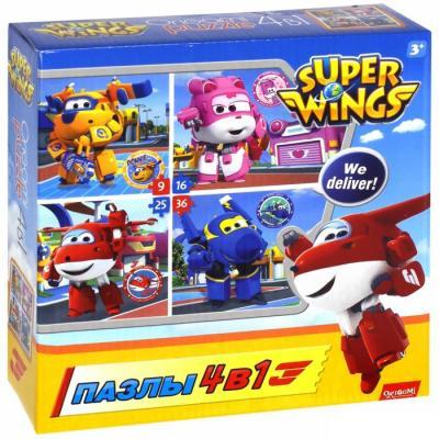 Пазл ОРИГАМИ SuperWings Любимые герои 9-16-25-36 элементов, Пазлы для малышей  - купить со скидкой