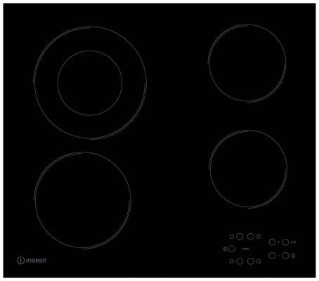Варочная панель электрическая Indesit RI 260 C черный варочная панель indesit via 640 0 c