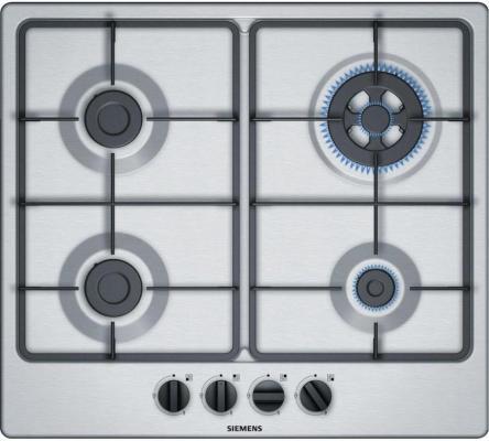 Варочная панель газовая Siemens EG6B2PB60 серебристый встраиваемая газовая варочная панель siemens ep 6 a8 hb 20