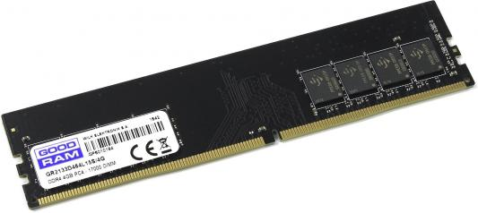 Оперативная память 4Gb PC4-17000 2133MHz DDR4 DIMM GoodRAM CL15 IR-C2133D464L15S/4G модуль памяти foxline pc4 12800 dimm ddr4 2133mhz 4gb fl2133d4u15 4g cl15