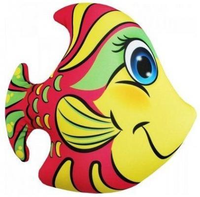 Антистрессовая подушка-игрушка Рыбка розовая оранжевый кот подушка игрушка антистресс кот спортсмен