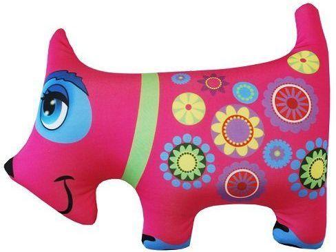 Антистрессовая подушка-игрушка Собака розовая оранжевый кот подушка игрушка антистресс кот спортсмен