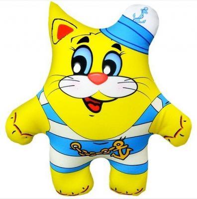 Антистрессовая подушка-игрушка Кот Морячок 03 оранжевый кот подушка игрушка антистресс кот спортсмен