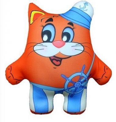 Антистрессовая подушка-игрушка Кот Морячок 06 оранжевый кот подушка игрушка антистресс кот спортсмен
