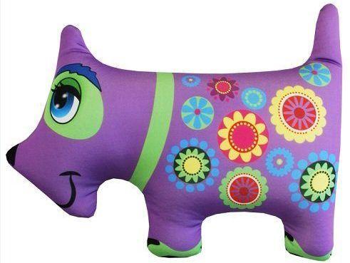 Антистрессовая подушка-игрушка Собака фиолетовая оранжевый кот подушка игрушка антистресс кот спортсмен