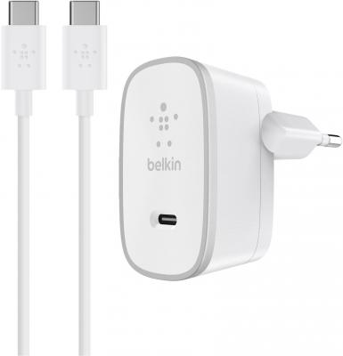 Сетевое зарядное устройство Belkin F7U008vf05-WHT USB-C 3А белый сетевое зарядное устройство belkin f8j125vf04 wht 8 pin lightning 2 4а белый