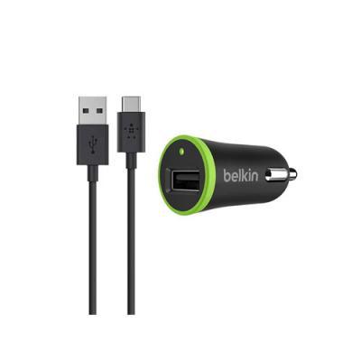 Автомобильное зарядное устройство Belkin F7U002bt06-BLK USB 2.1A черный автомобильное зарядное устройство belkin f8m730btgry