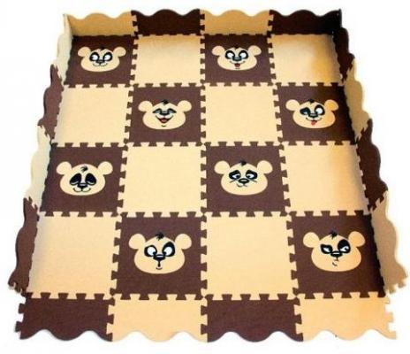 Купить Мягкий пол универсальный Панда 36 деталей, Eco cover, Развивающие коврики и дуги