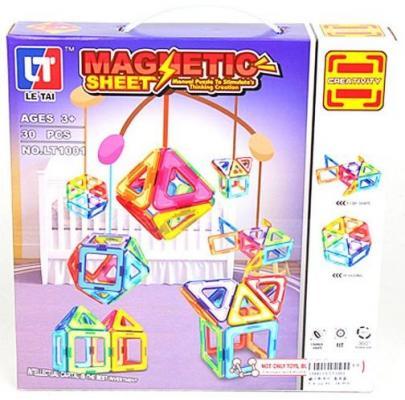 Магнитный конструктор Наша Игрушка Magnetic Sheet 30 элементов LT1001 цена