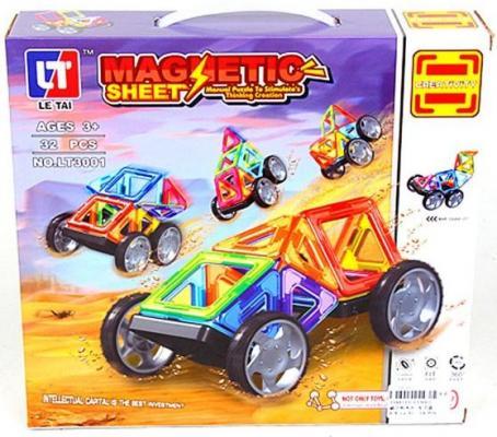 Магнитный конструктор Наша Игрушка Ралли 32 элемента LT3001