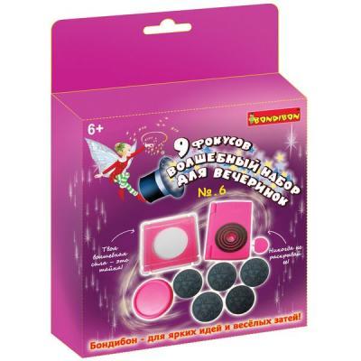 Купить Фокусы 9 фокусов для вечеринки №6, для девочек, BONDIBON, Пластик, Для девочек, Наборы юного фокусника