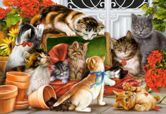 Купить Пазл 1500 Кошки, Кастор, Пазлы-картины