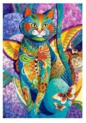 Пазлы 1500 Кошачья фиеста брошь кошачья семейка