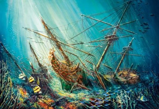 Купить Пазл 1000 Морское сокровище, Кастор, Пазлы-картины