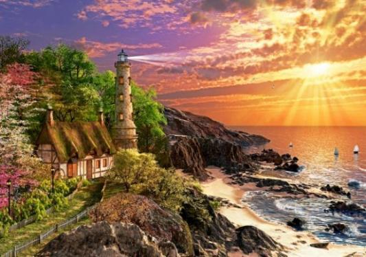 Купить Пазл Кастор Дом на побережье 500 элементов B-52615, Пазлы-картины