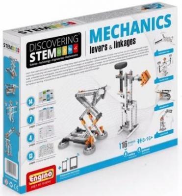 Конструктор ENGINO Механика рычаги и рычажные механизмы STEM01 конструктор engino stem01 discovering stem механика рычаги и рычажные механизмы