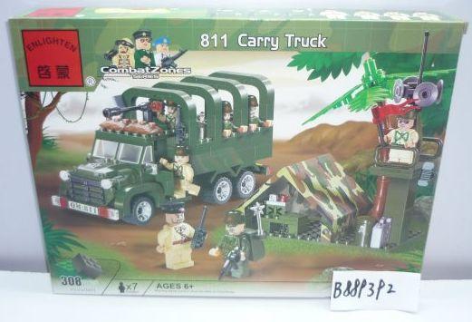 Конструктор BRICK Военный грузовик 308 элементов 811 конструктор металлический грузовик и трактор 345 элементов