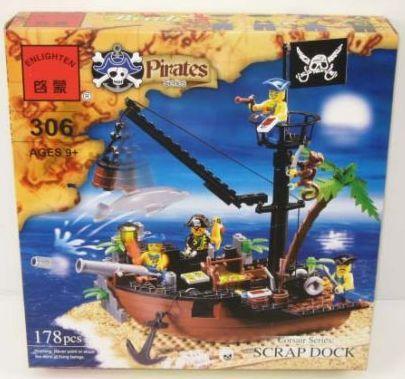 Конструктор BRICK Корабль пиратов 178 элементов