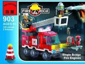 Конструктор BRICK Пожарная машина 129 элементов 903