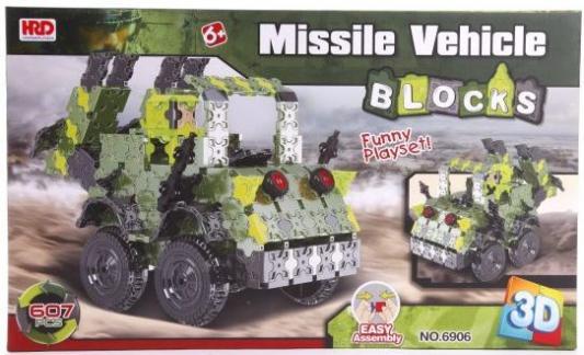 Купить Конструктор 3D Наша Игрушка Ракетная установка 607 элементов A1012411B, Мягкие конструкторы для детей