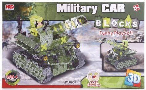 Купить Конструктор 3D Наша Игрушка Танк 684 элемента A1012412B, Мягкие конструкторы для детей