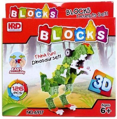 Купить Конструктор 3D Наша Игрушка Динозавр 126 элементов A1012360B, Мягкие конструкторы для детей