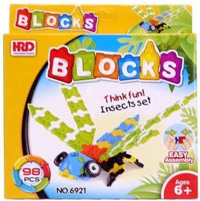 Купить Конструктор 3D Наша Игрушка Стрекоза 98 элементов A1012344B, Мягкие конструкторы для детей