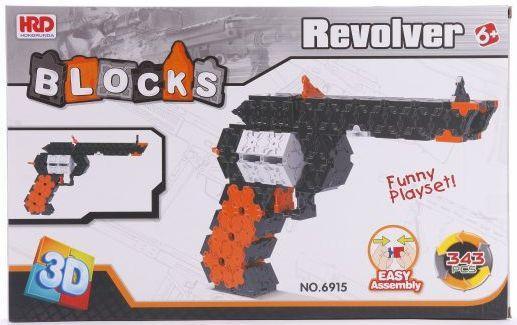 Конструктор 3D Наша Игрушка Револьвер 343 элемента A1012396B в москве травматический револьвер таурус
