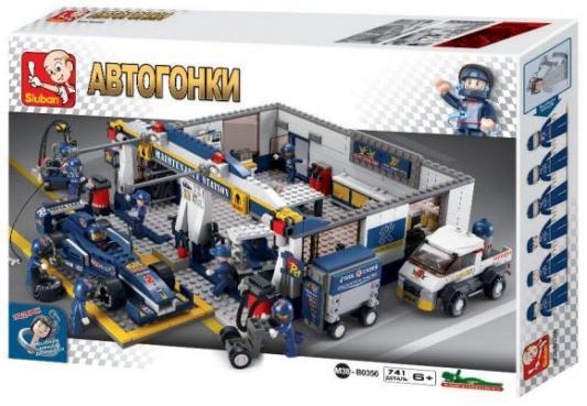 Конструктор SLUBAN Станция обслуживания 741 элемент M38-B0356 конструктор sluban формула 1 m38 b0353