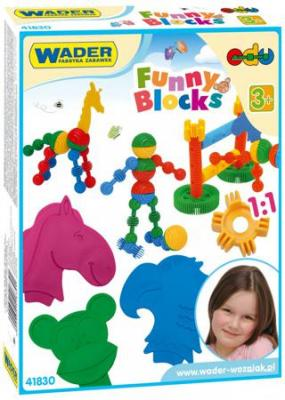Купить Конструктор Wader Funny blocks 36 элементов 41830., Мягкие конструкторы для детей