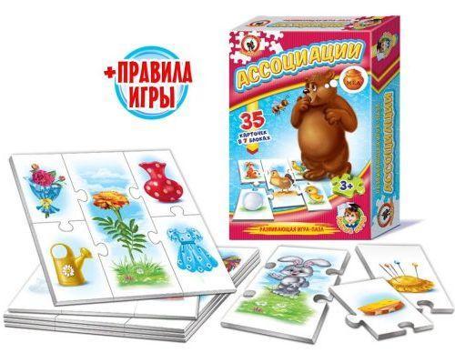Настольная игра Русский Стиль развивающая Ассоциации 03988 настольная игра развивающая русский стиль панорама каникулы в простоквашино 3472