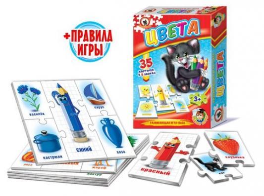 Купить Настольная игра Русский Стиль обучающая Цвета 03996, 15X5X23 см, Развивающие настольные игры