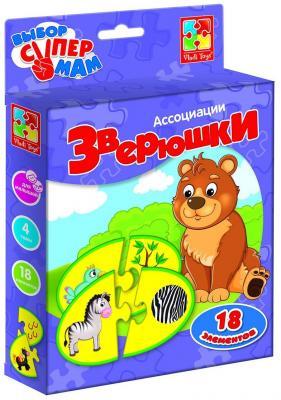Купить Настольная игра ROTER KEFER развивающая Зверюшки VT1901-35, 15X3X22 см, Развивающие настольные игры