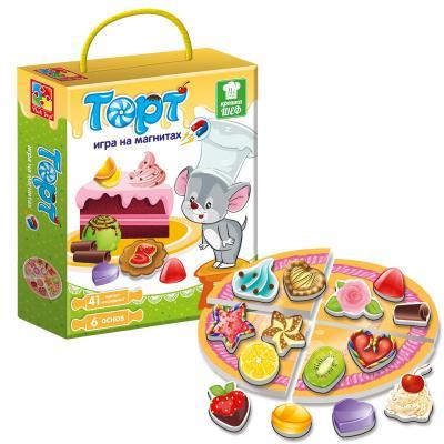 Магнитная игра Vladi toys развивающая Крошка Шеф Торт VT3004-07