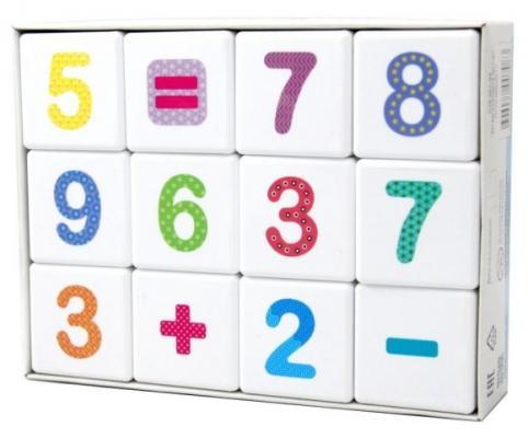 Кубики Весёлая арифметика 12 шт десятое королевство кубики загадки дары леса
