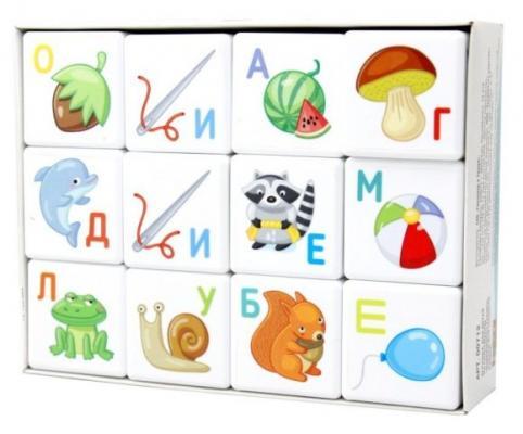 Кубики Десятое королевство Азбука от 3 лет 12 шт 00712 alatoys кубики азбука окрашенные 12 шт 4 цвета