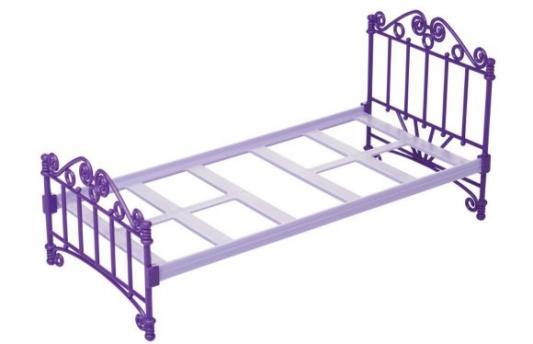 Кроватка для кукол Огонек Кроватка фиолетовая С-1424 кроватка для кукол огонек 1028