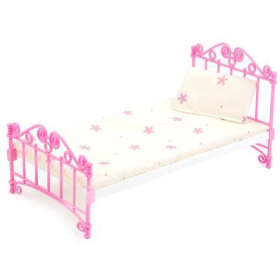 Кроватка для кукол Огонек Кроватка розовая С-1427 обычная кроватка 120x60 вдк чудо розовая
