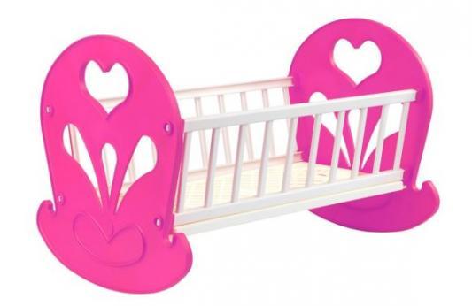 Кроватка-качалка для кукол Огонек Зефир С-1474 кроватка качалка для кукол полесье кроватка качалка сборная для кукол 2