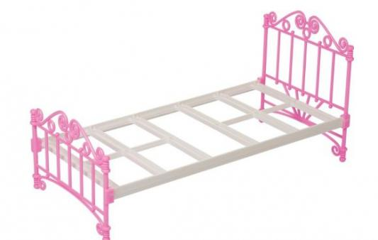 Кроватка для кукол Огонек Кроватка розовая С-1426 обычная кроватка 120x60 вдк чудо розовая