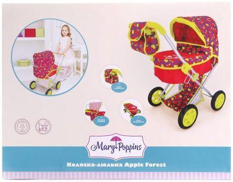 Коляска для кукол Mary Poppins Cherry 67337 mary poppins mary poppins коляска для кукол божья коровка