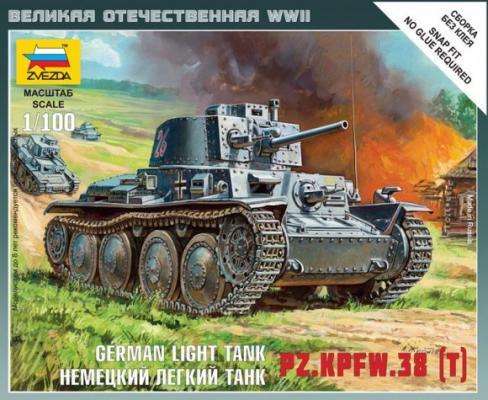 Танк Звезда Немецкий лёгкий танк Т-38 1:100 серый 6130