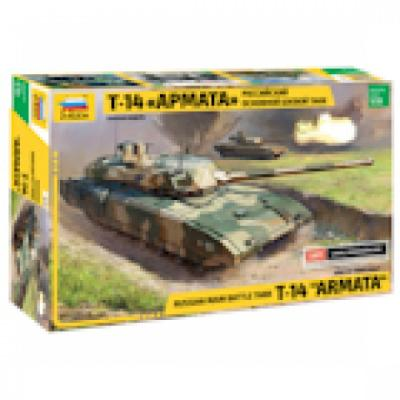 Танк Звезда Российский основной боевой танк Т-14 Армата 1:35 хаки 3670 танк звезда т 72б с активной броней 1 35 3551п подарочный набор