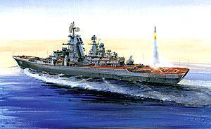 Крейсер Звезда Крейсер Петр Великий 1:700 серый 9017 звезда модель крейсер варяг 9014