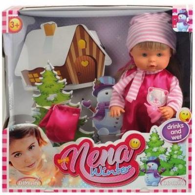 Кукла Dimian NENA зимний набор 36 см писающая пьющая BD381 nena dortmund