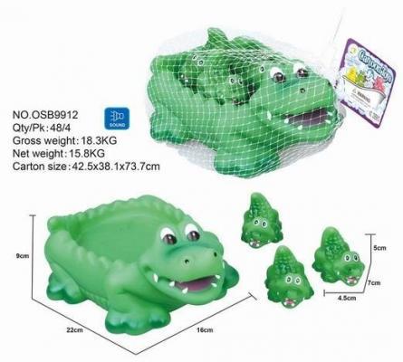 Набор для купания Крокодильчики 4 предм., сетка подставка для купания фея сетка