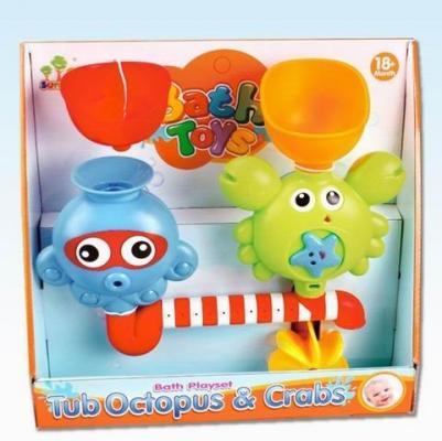 Набор для игры в ванной Осьминог и Крабик, кор. игрушки для ванны brasco игрушка для ванной крабик с друзьями