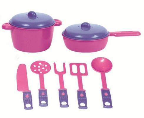 Купить Набор посуды ZebraToys Повар 15-10037-9, розово-фиолетовый, Игрушечная посуда